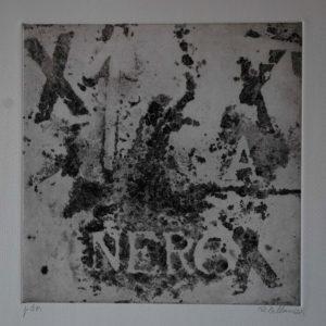 Renzo Bellanca Nero omaggio a Burri 2