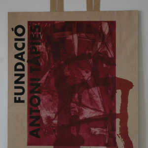 Renzo Bellanca OMAGGIO A TAPIES su busta Fondazione Tapies